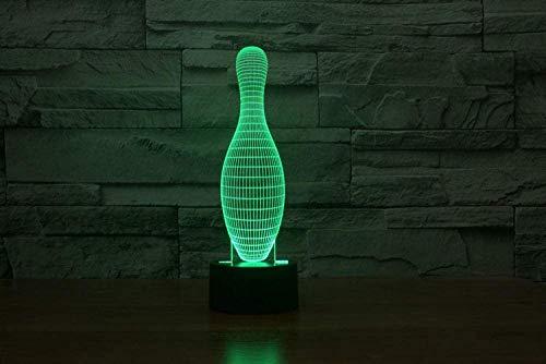 7 Farbe führte Form-Nachtlicht des Tischlampen-Weihnachtsspielzeug-Geschenk-3D Bowlingspiel