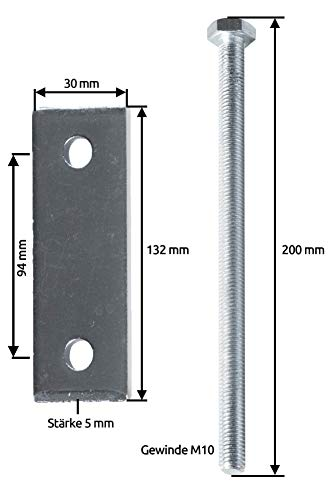 Halterungen, Befestigungssatz für Deichselbox, Transportbox, Alubox für PKW Anhänger, MON2014