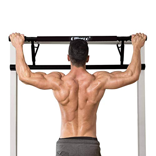 Ollieroo Pull Up Bar Doorway Chin Up Strength Training Bars Multi-Grip Trainer Workout for Home Gym