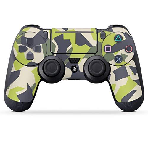 DeinDesign Skin kompatibel mit Sony Playstation 4 PS4 Slim Controller Folie Sticker Camouflage Tarnmuster Pattern