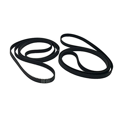 BEMONOC 2GT Industrial Driver Belt 930-2GT-6 Timing Belt in Closed Loop Rubber L=930mm W=6mm 465 Teeth for 3D Printer Pack of 2pcs