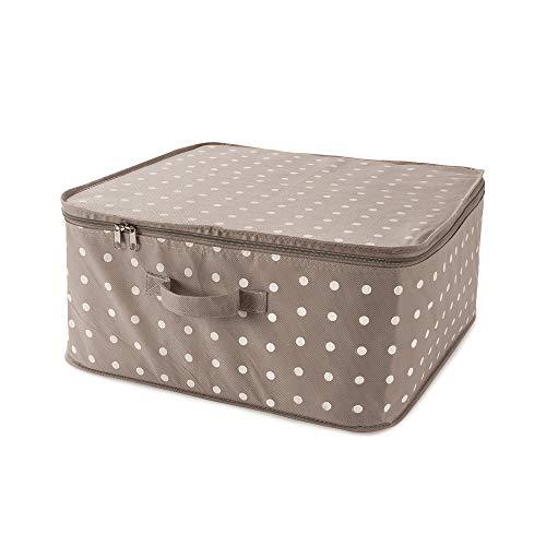 Compactor Bolsa de almacenamiento con cremallera y asa, Gama Rivoli, Tamaño 46 x 46 x 20.5 cm, Color beige, RAN4540_B
