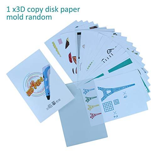 Tamaño A4 Niños Dibujo Molde de papel de placa de copia 3D para impresión 3D Plantillas de dibujo de pluma y Doodle XP El mejor regalo para niños (blanco) ESjasnyfall