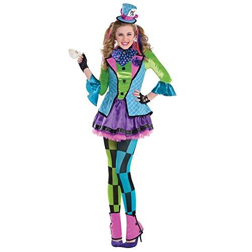 Variopinto Cappellaio Matto Costume Bambina Bambini Costume - Blu, 10-12 anni