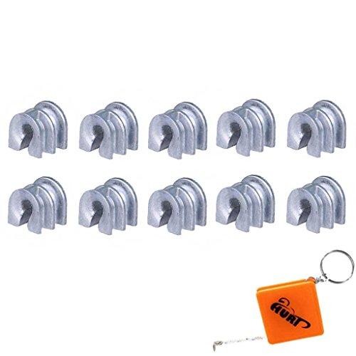 HURI 10x Hülse/Fadenführung für Stihl Fadenkopf Autocut 25-2, 30-2, 40-2, 40-4 Mähkopf (FS55 FS56 FS80 FS85 FS86 FS90 FS100 FS120 FS250 FR350 FR480) 4003 713 8301