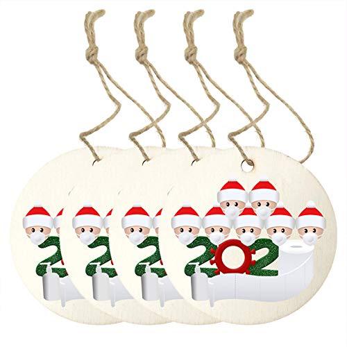 Eastdall Decoração De Casa,2020 Nova Decoração de Árvore de Natal Sobreviveu à Família Enfeite Suspenso de Natal Decoração de Casa 4 peças