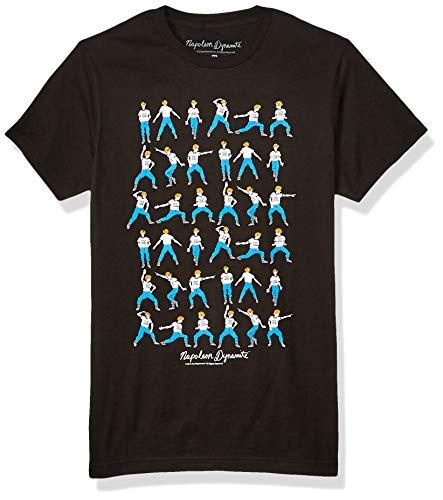 Napoleon Dynamite Men's Napoleon Dynamite Dance Moves Graphic T-Shirt, Black, X-Large