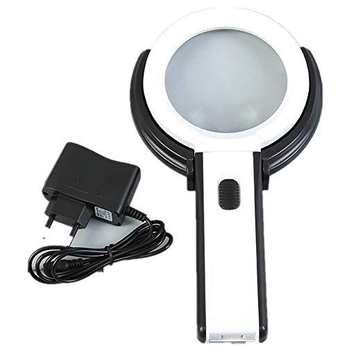 Miaozaigou Desktop-vergrootglas met licht geleid bureaulamp vergrootglas met lamphouder vergrootglas bureaulamp onderhoud lezen