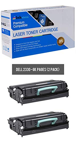 Inksters Compatible Black Toner Cartridge Replacement for Dell 2330 2330D 2330DN 2350 2350D 2350DN - 330-2666 330-2667 - 2 Pack