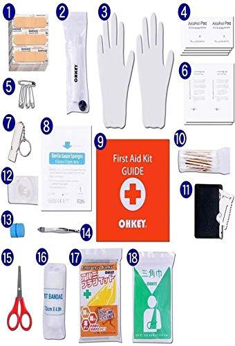 OHKEY救急セットファーストエイドキットポイズンリムーバー登山アウトドア防災救急箱小型