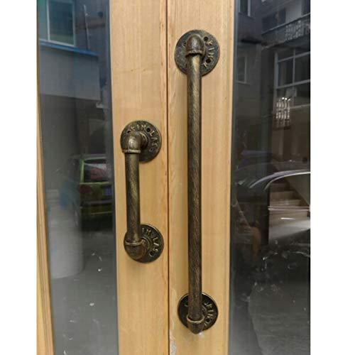 WZNING Manija de la puerta de hierro forjado antiguo de la vendimia, barra de agarre de la puerta de la puerta de la puerta de la puerta de la puerta de la puerta del estilo europeo simple, bronce Seg