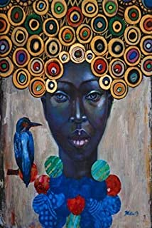 Huanlovely Abstract African Women Vintage Portrait Oil Painting on Canvas Art Scandinavian Posters and Prints Wall Picture for Living Room
