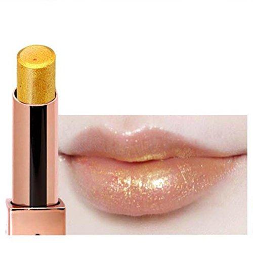Hunpta Rouge à lèvres Paillettes métallique brillant à lèvres longue durée Ombre à paupières Cosmétique Lip Outil de maquillage