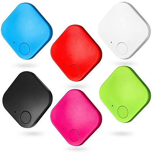 Buscador de Llaves Buscador de Artículos Rastreador Inteligente de Llaves Localizador de Artículos, Dispositivo de Localización Inalámbrica de Bluetooth, Etiqueta Anti-Perdida (6 Piezas)