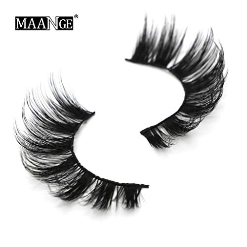 TOPSELD Party 5D falsche Wimpern Lashes Voluminöse Eye Lashes 7 Paar Make-up Lashes
