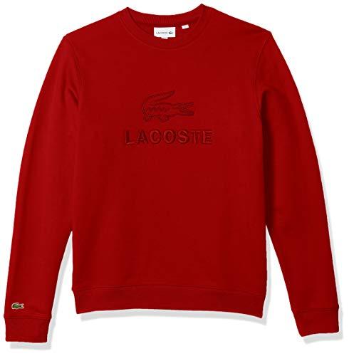 Lacoste Men's Long Sleeve Graphic Fleece Sweatshirt, Red, 3XL