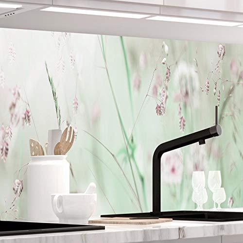 StickerProfis Küchenrückwand selbstklebend - WILDBLUMENWIESE - 1.5mm, Versteift, alle Untergründe, Hart PET Material, Premium 60 x 220cm
