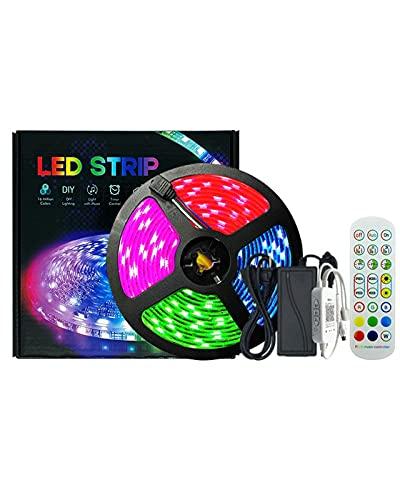 32.8 Pies LED WiFi Luces De Tira, Cambiando De Color por 24 Teclas Remoto, Impermeable 300pcs RGB Luces De Cuerda, Sincronización A Tiras De Luz De Música.