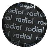 Harzole OV-1033100 Parche de reparación de neumáticos radiales y bias-Ply negro, redondo, 2-1/48 pulgadas, 57 mm, 100 unidades (OV-1033100)