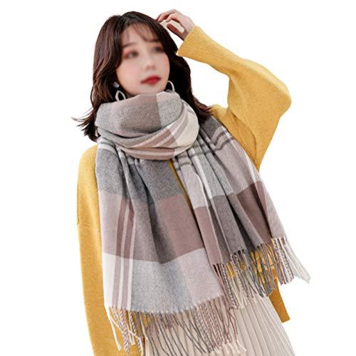 TIANPIN sjaal wollen geruite sjaal vrouwelijke lange zachte warme sjaal Engeland herfst en winter kasjmier sjaal Dual-use verdikking, 200 * 70cm