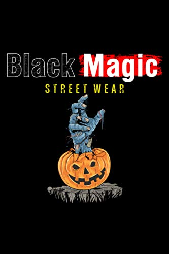 Black Magic Street Wear Pumpkin Zombie Hand Pop Out At Stone Journal Notebook: 6x9 book size of 120 line pages journal notebook for writing purpose or ... down important notes to be written on it