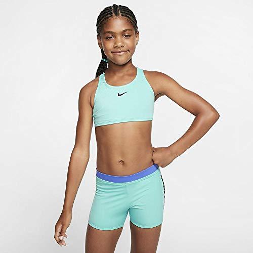 Nike Mädchen Crossback Sport Biki Bikini, grün (Aurora Green), XS