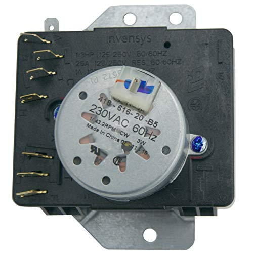 Supplying Demand W10185976 Clothes Dryer Timer Replacement 230VAC 60Hz