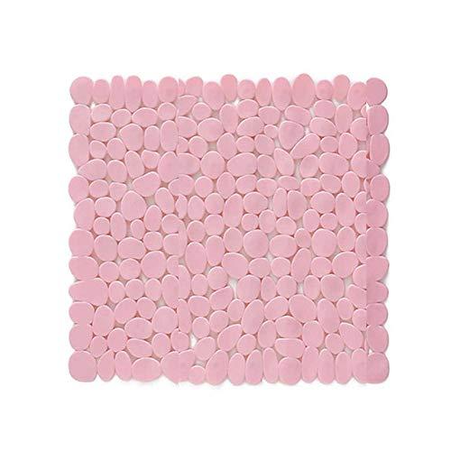 KEAINIDENI toiletmat 54CM PVC massief snel afvoer douchemat antislip badmat tapijt badkamer douche zuignap pad Hotel badkamer toiletmat roze