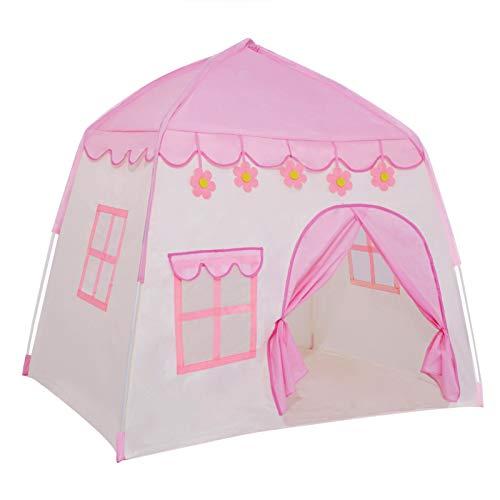 TTLOJ Kids Play Tent for Girls Boys Princess Playhouse Girls Pink Flower Castle Play Tent Children...