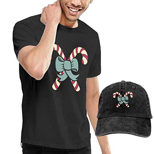 Baostic Herren Kurzarmshirt Candy Cane Clip Art Fashion Men's T-Shirt and Hats Youth & Adult T-Shirts