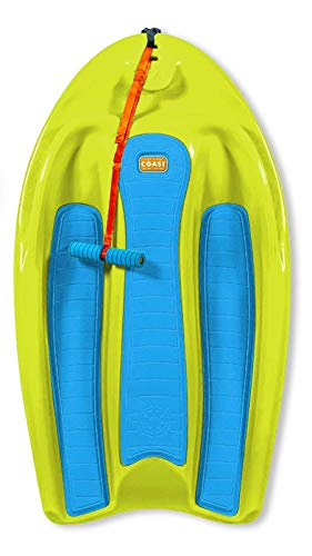 ZUP Coast Board All-in-One Kid's Wakeboard with Rope Handle, Trainer Board, Kneeboard and Water Skis for Water Sports, Boating, Yellow