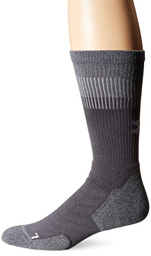 Under Armour Adult Unrivaled Crew Socks, 1-Pair, Graphite, Shoe Size: Mens 4-8, Womens 6-9