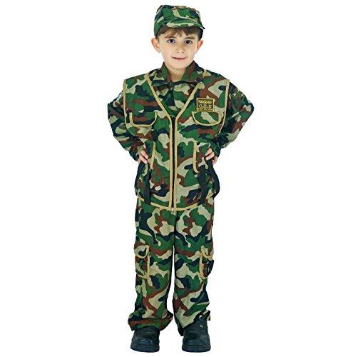 SEA HARE Disfraz de Soldado niño Soldado del ejército (S:4-6 años)