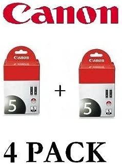 Canon PGI-5 BK 4-Pack Pigment Black Ink Tanks for IP5200 IP4200 IP4500 IP4300 IP3500 IP3300 MP970 MP960 MP950