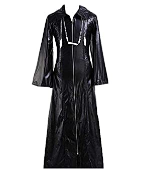 CosDaddy Cosplay Costume Kingdom Hearts Roxas Long Jacket,Men-Medium Black