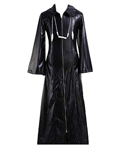 CosDaddy Cosplay Costume Kingdom Hearts Roxas Long Jacket,Men-XX-Large Black