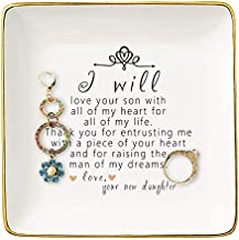 Gift For Mother of The Groom From Bride - Thank You For Raising The Man Of My Dreams - Ceramic Jewelry Holder Ring Dish Trinket Tray - Wedding Gifts - Bridal Shower Gifts