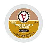 Victor Allen's Coffee Sweet and Salty Caramel Cappuccino, Flavored Coffee, 42 Count Single Serve Coffee Pods for Keurig K-Cup Brewers