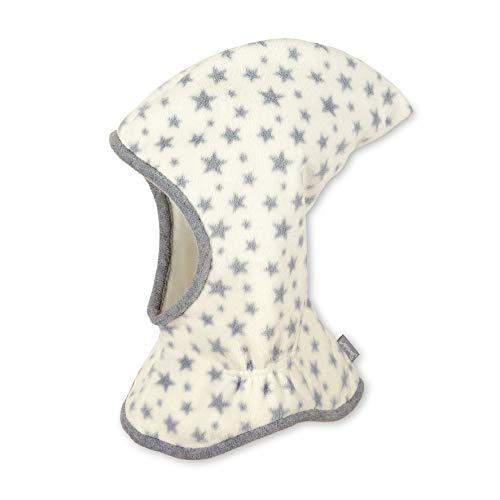 Sterntaler Schalmütze mit Zipfel und Sternen-Motiv, Wärmeschutz durch Thinsulate Insulation, Alter: 12-18 Monate, Größe: 49, Beige (Ecru)