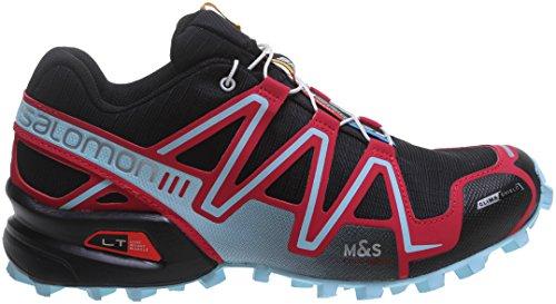 Salomon Speedcross 3 CS, Zapatillas de Trail Running para Mujer, Schwarz (Black/Lotus Pink/Air), 40 2/3 EU