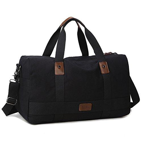 Unisex, in tela, borsa da Weekend-Borsone da viaggio grande Borsa ventiquattrore da viaggio Borsone Borsa trolley Handbag Queen nero 57 x 27 x 23 cm