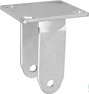 """CasterHQ - 8"""" X 2"""" Rigid Caster Yoke/RIG/Fork/Frame / - Capacity UP to 1,250 LBS Replacement"""
