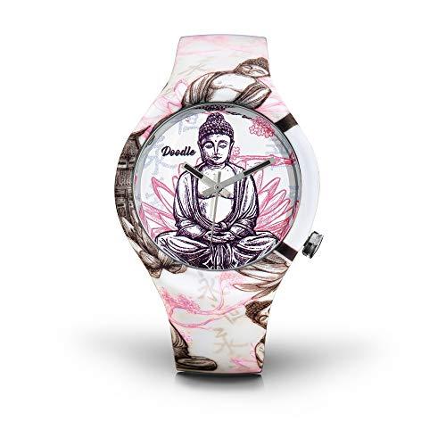 DOODLE Watch ? Armbanduhr für SIE Ø 39mm | Silikonband > Buddha/Lotus > DOOR001