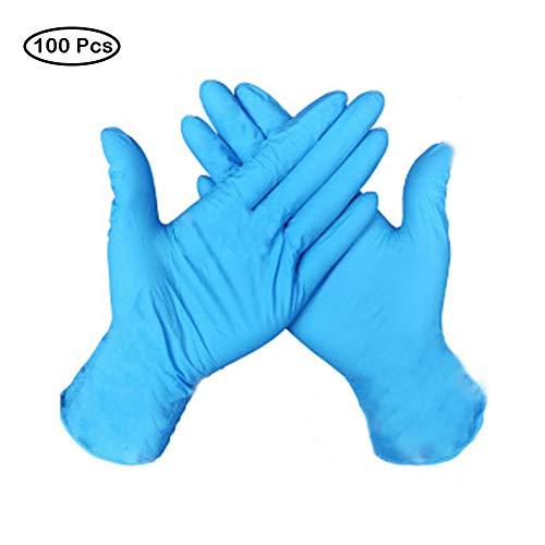 Eon Systems - Guantes de látex (100 unidades) azul L Tamaño y 10 Botellas de Spray