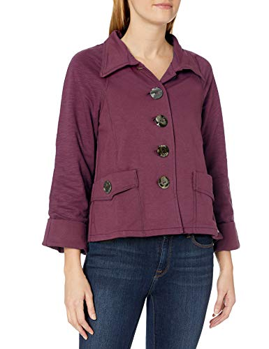 Neon Buddha Women's Layla Jacket, Wine, X-Small
