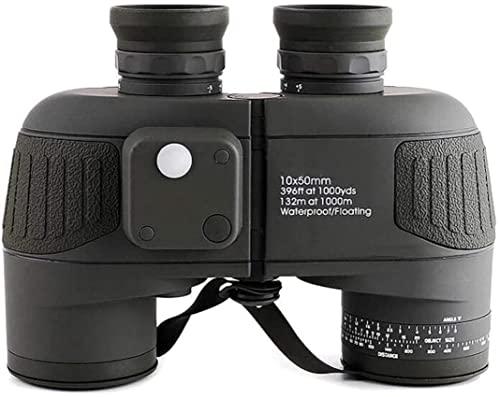Telescope Telescope 10x50 Binoculars with Rangefinder Portable Binoculars Compact with Waterproof BAK4 Prism FMC Lens Binocular for Adults Kids Bird Watching Traveling Seeing Waterproo