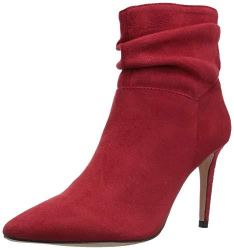 XOXO Women's Taniah Fashion Boot, red, 6 M US