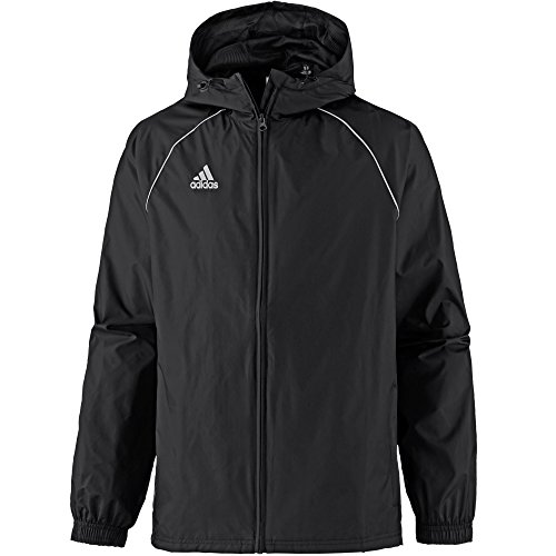 adidas Core18 Rain Jacket, Uomo, Black/White, S