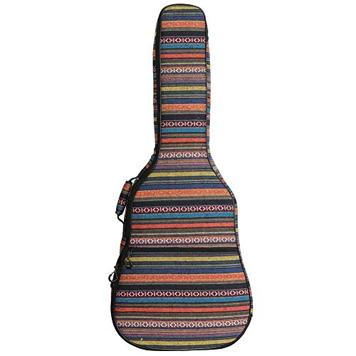 Exuberanter Gitarrentasche 40 41 Zoll Gitarrenkoffer Akustikgitarre Im Ethno-Stil Wasserdicht Gitarrenhülle Rucksack Tasche Für Akustikgitarre