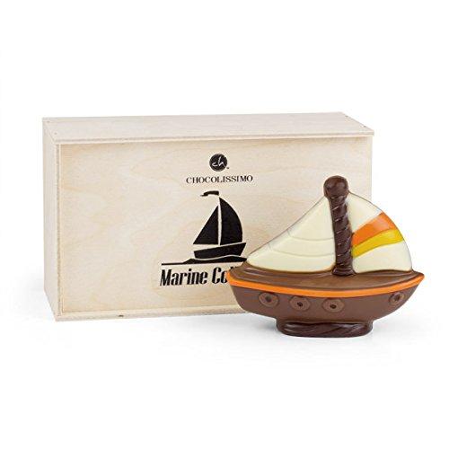 Segelschiff aus Schokolade - Schoko schiff | Schokoladen Segelboot | Boot | segeln | Geschenkidee | Segelfans | Kinder | Erwachsene | Mann | Frau | Geschenk | Marine Collection | besonders süße Überraschung